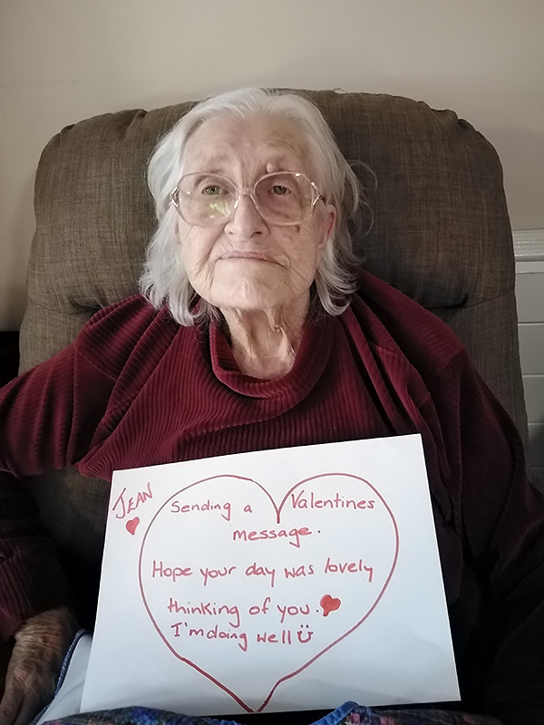 Valentines Messages from Residents